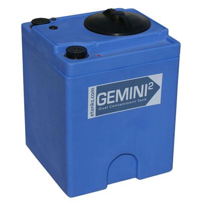 """Gemini2 20 Gallon Blue Square Dual Containment Tank - 18""""L x 18""""W x 24""""H"""