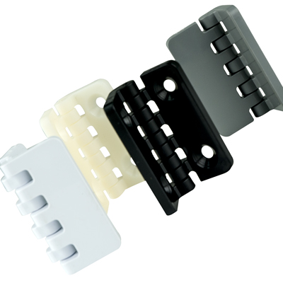 "2"" x 2-1/2"" Black Polypropylene; Offset; Without Holes Thermoplastic Hinge"
