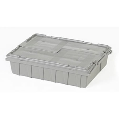 "21.8""L x 15.1""W x 5.5""H  Gray Container"