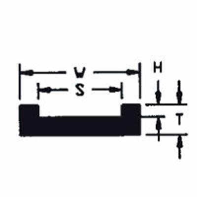 "UHMW Chain Guide ASA Chain #2120 (T = 5/8"", W = 2-3/4"", H = 3/8"", S = 2-1/4"")"
