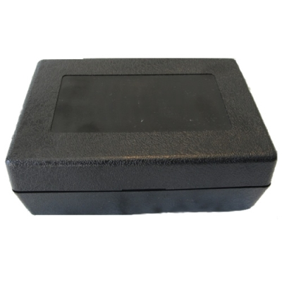 "Black ABS Hinged Storage Box - 6-1/8"" L x 4-1/4"" W x 2-3/8"" Hgt."