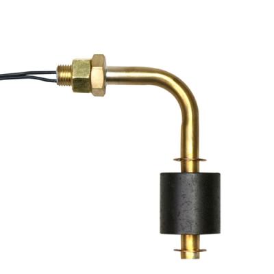 Horizontal Brass Steel Liquid Level Switch with 3/8-24 thread & Bent Stem