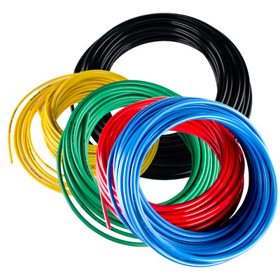 4mm ID x 6mm OD Red Nylon Tubing