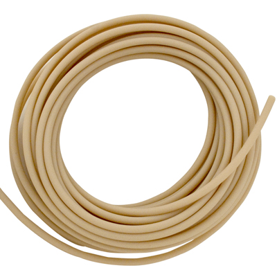 "5/8"" ID x 7/8"" OD x 1/8"" Wall Natural Santoprene® 73A FDA Tubing"