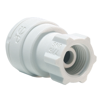 "1/4"" Tube OD x 7/16-24 UNS Threaded PP Faucet Connector"