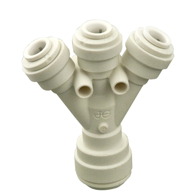 """3/8"""" Tube OD Inlet X 1/4"""" Tube OD Outlets Three-Way Divider"""