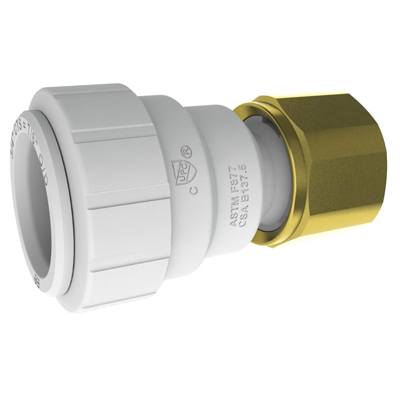 "3/4"" CTS x 3/4"" NPT PEX Female Connector"