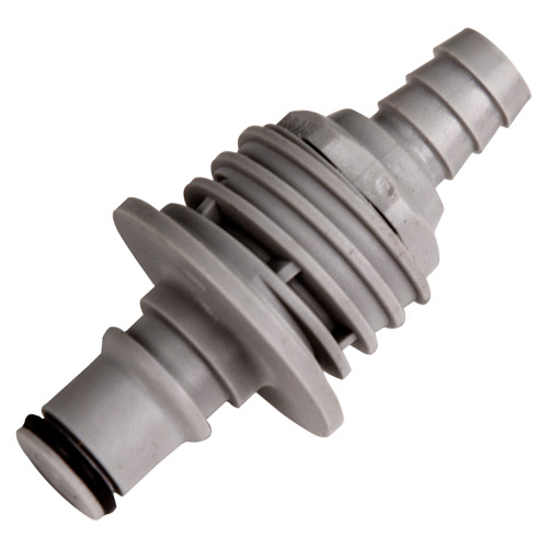 """3/8"""" ID Panel Mount Hose Barb Polypropylene Non-Spill Coupling Insert (Body Sold Separately)"""