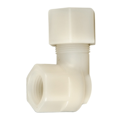 "5/16"" OD Tube x 1/4"" FPT Jaco Polypropylene Female Elbow Tube Fitting"