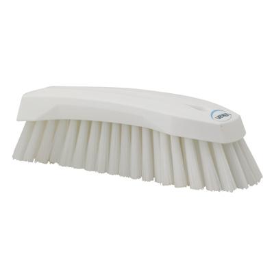 White Scrub Brush w/Stiff Bristle