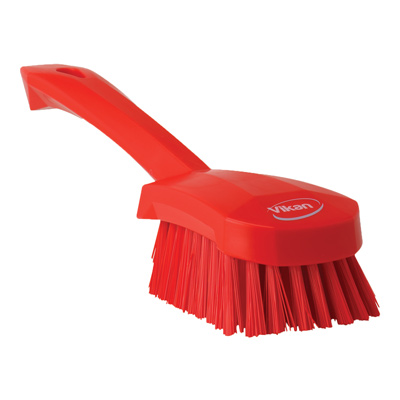 Red Short Handled Stiff Hand Brush