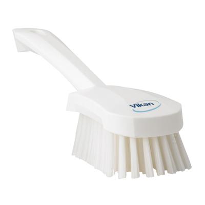 Vikan® White Short Handled Stiff Hand Brush