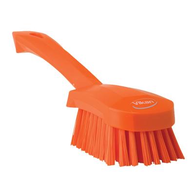 Vikan® Orange Short Handled Stiff Hand Brush