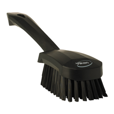 Vikan® Black Short Handled Stiff Hand Brush