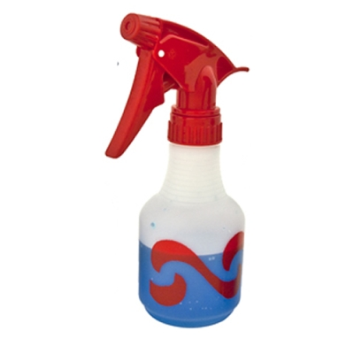 8 oz. Red HDPE Wave Spray Bottle