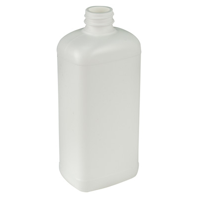 16 oz. Blake Oblong White HDPE Bottle with 28/400 Neck (Cap Sold Separately)