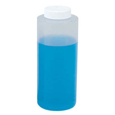 12 oz. Wide Mouth LDPE Bottle with 38mm Plain Cap