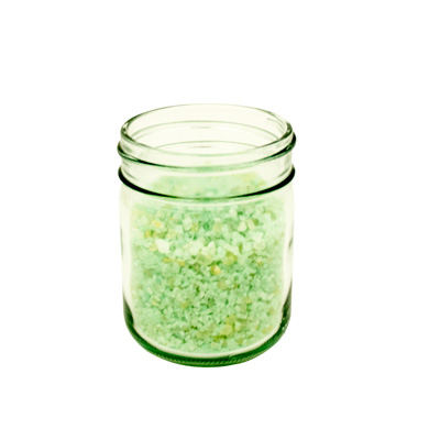 8 oz. Round Wide Mouth Clear Glass Jars  (Lid Sold Separately)