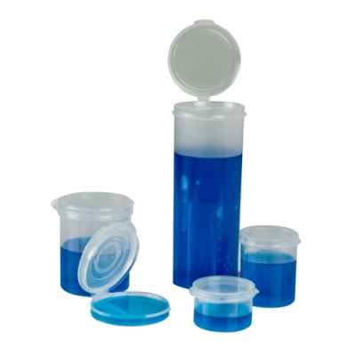"1/9 oz. Clear Hinged Lid LA-Cons® - 1.25"" Diameter"