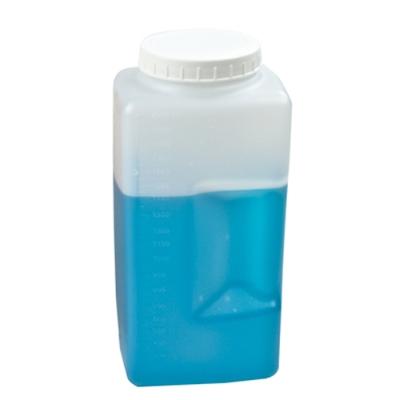 2000mL White Kartell Square Bottle with 75mm Cap