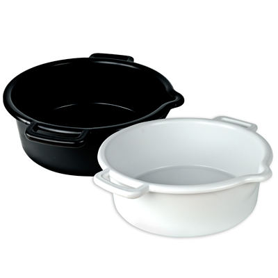 Black 5 Gallon Heavy Wall Tub With Spout