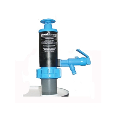GoatThroat™ Drum Pump with EPDM Seal, Blue with Standoff