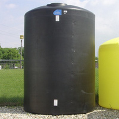 "10500 Gallon Black Vertical Polyethylene Tank 142"" x 177"" 2800 lb."