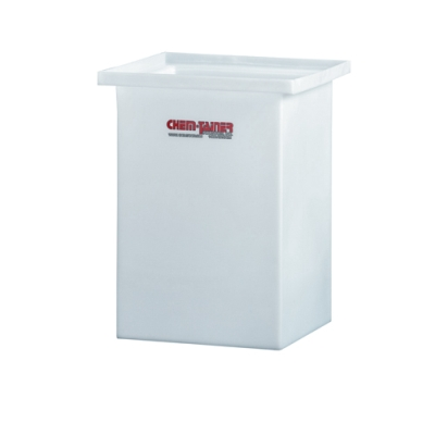 "11 Gallon Molded Polyethylene Tank with Cover-  12"" L x 12"" W x 18"" H"