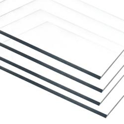 ".220"" x 48"" x 48"" Clear LEXAN™ LT300 Recycled  Sheet"
