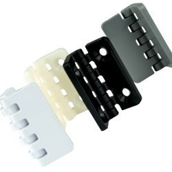 "2"" x 2-1/2"" Black Polypropylene; Offset; With Holes Thermoplastic Hinge"