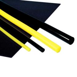 """1"""" ID x 2"""" OD 75A Yellow Polyurethane Cast Tube"""