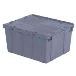 "23.9"" L x 19.6"" W x 12.6"" Hgt. Gray Security Shipper Container"