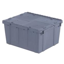 "23.9""L x 19.6""W x 12.6""H Gray Container"