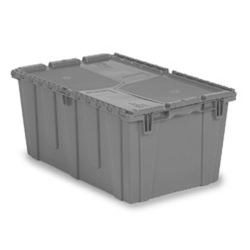"26.9"" L x 16.9"" W x 12.1"" Hgt. Gray Security Shipper Container"