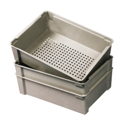 "17-7/8""L x 11-1/4""W x 6""H Wash Box with Perforated Bottom"