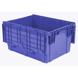 "28""L  x 20""W x 15""H Blue Container"