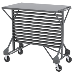 "Steel Cart with Shelf Top 38-1/2"" L x 24"" W x 36-1/2"" Hgt."