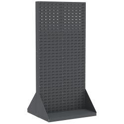 "Double Sided Steel Rack with Louvered Panels 35-3/4"" L x 32"" W x 75-1/8"" H (Bins Not Included)"