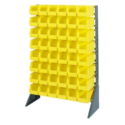 One Sided 16 Or 12 Rail Bin Rack (Bins Not Included)