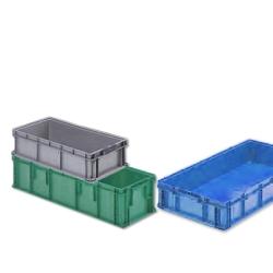 """48""""L x 15""""W x 7-1/2""""H Gray StakPak Long Box"""