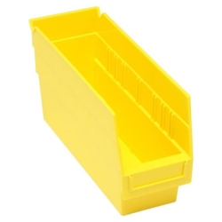 "11-5/8""L x 4-1/8""W x 6""H Yellow Quantum® Store-More Shelf Bin"
