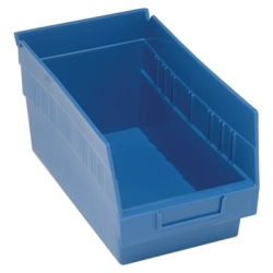 "11-5/8""L x 6-5/8""W x 6""H Blue Quantum® Store-More Shelf Bin"