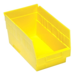 "11-5/8""L x 6-5/8""W x 6""H Yellow Quantum® Store-More Shelf Bin"