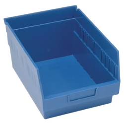 "11-5/8""L x 8-3/8""W x 6""H Blue Quantum® Store-More Shelf Bin"