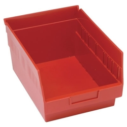 "11-5/8""L x 8-3/8""W x 6""H Red Quantum® Store-More Shelf Bin"