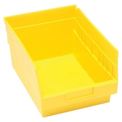 "11-5/8""L x 8-3/8""W x 6""H Yellow Quantum® Store-More Shelf Bin"