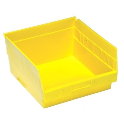 "11-5/8""L x 11-1/8""W x 6""H Yellow Quantum® Store-More Shelf Bin"