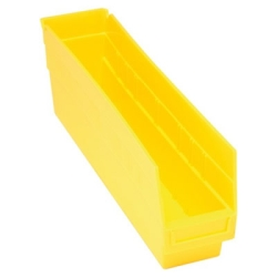 "17-7/8""L x 4-1/8""W x 6""H Yellow Quantum® Store-More Shelf Bin"