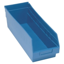 "17-7/8""L x 6-5/8W x 6H Blue Quantum® Store-More Shelf Bin"