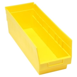 "17-7/8""L x 6-5/8W x 6H Yellow Quantum® Store-More Shelf Bin"